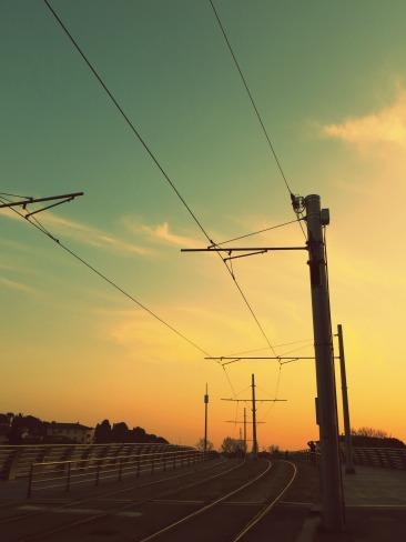 Tram Lines at Dusk